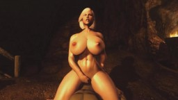 Skyrim Hot Busty Blonde MILF Takes Orc Cock