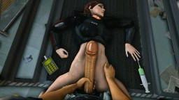 Unconscious Femshep raped in lab