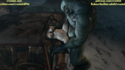 Zoe Baker stuffed in the car by hulky Monster